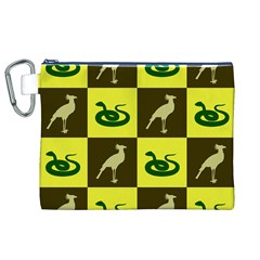 Snake Bird Canvas Cosmetic Bag (xl) by Jojostore