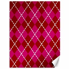 Texture Background Argyle Pink Red Canvas 36  X 48   by Jojostore
