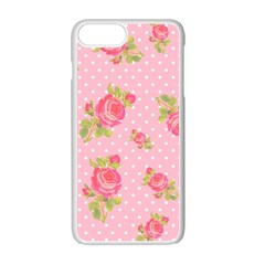Rose Pink Apple Iphone 7 Plus White Seamless Case by Jojostore