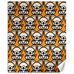 Sitchihuahua Cute Face Dog Chihuahua Canvas 16  X 20   by Jojostore