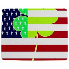 Usa Ireland American Flag Shamrock Irish Funny St Patrick Country Flag  Jigsaw Puzzle Photo Stand (rectangular) by yoursparklingshop
