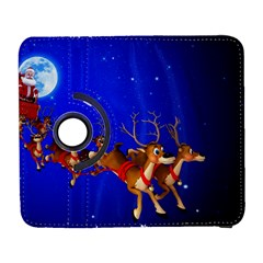 Holidays Christmas Deer Santa Claus Horns Galaxy S3 (flip/folio) by Jojostore