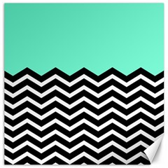 Blue Chevron Canvas 16  X 16   by Jojostore