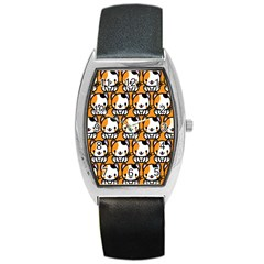 Face Cat Yellow Cute Barrel Style Metal Watch by Jojostore