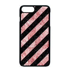Stripes3 Black Marble & Red & White Marble Apple Iphone 7 Plus Seamless Case (black) by trendistuff