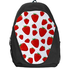 Decorative Strawberries Pattern Backpack Bag by Valentinaart