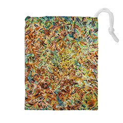 Art Modern Painting Acrylic Canvas Drawstring Pouches (extra Large) by Amaryn4rt