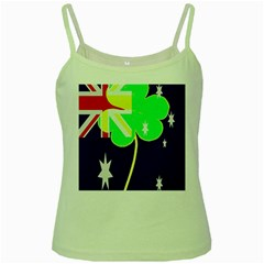 St  Patrick Australia And Ireland Irish Shamrock Australian Country Flag  Green Spaghetti Tank by yoursparklingshop