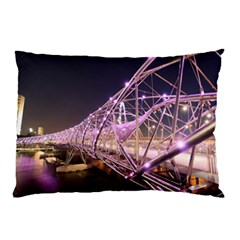 Helixbridge Bridge Lights Night Pillow Case (two Sides)