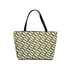 Yellow Washi Tape Tileable Shoulder Handbags by Jojostore