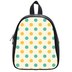 Round Blue Yellow School Bags (small)  by Jojostore