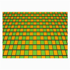 Tile Of Yellow And Green Large Glasses Cloth (2 Side) by Jojostore
