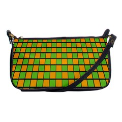 Tile Of Yellow And Green Shoulder Clutch Bags by Jojostore