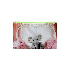 Elephant Heart Plush Vertical Toy Cosmetic Bag (xs) by Amaryn4rt