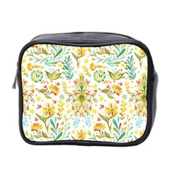 Cute Small Colorful Flower  Mini Toiletries Bag 2 Side by Brittlevirginclothing