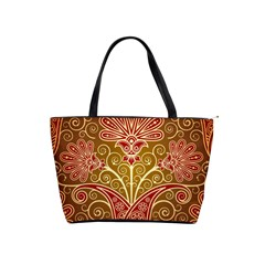 European Fine Batik Flower Brown Shoulder Handbags by Jojostore
