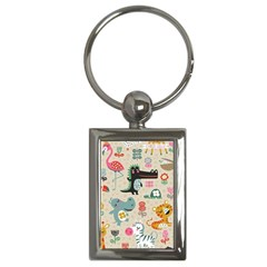 Cute Cartoon Key Chains (rectangle)  by Brittlevirginclothing