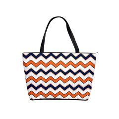 Chevron Party Pattern Stripes Shoulder Handbags by Amaryn4rt