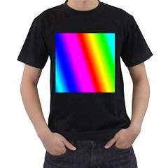 Multi Color Rainbow Background Men s T Shirt (black)