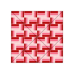 Pink Red Burgundy Pattern Stripes Acrylic Tangram Puzzle (4  X 4 ) by Amaryn4rt