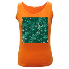 Star Seamless Tile Background Abstract Women s Dark Tank Top by Amaryn4rt