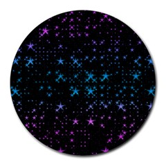 Stars Pattern Seamless Design Round Mousepads by Amaryn4rt