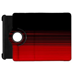 Abstract Of Red Horizontal Lines Kindle Fire Hd 7  by Amaryn4rt