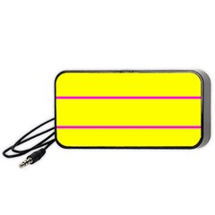 Background Image Horizontal Lines And Stripes Seamless Tileable Magenta Yellow Portable Speaker (black)