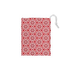 Floral Abstract Pattern Drawstring Pouches (xs)  by Amaryn4rt