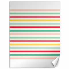 Papel De Envolver Hooray Circus Stripe Red Pink Dot Canvas 36  X 48   by Amaryn4rt