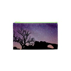 Arches National Park Night Cosmetic Bag (xs) by Amaryn4rt