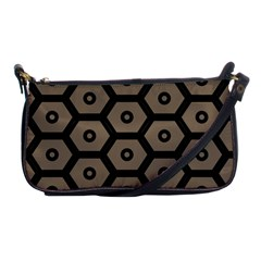 Black Bee Hive Texture Shoulder Clutch Bags by Amaryn4rt
