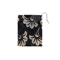 Printed Fan Fabric Drawstring Pouches (xs)  by Jojostore