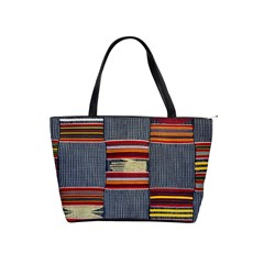 Strip Woven Cloth Shoulder Handbags by Jojostore
