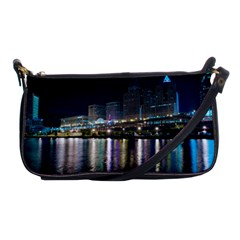 Cleveland Building City By Night Shoulder Clutch Bags by Amaryn4rt