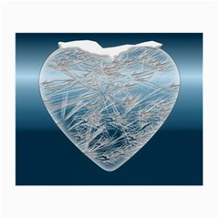 Frozen Heart Small Glasses Cloth (2 Side) by Amaryn4rt