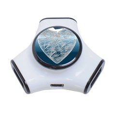 Frozen Heart 3 Port Usb Hub