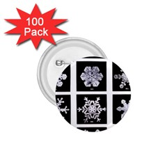 Snowflakes Exemplifies Emergence In A Physical System 1 75  Buttons (100 Pack)  by Amaryn4rt