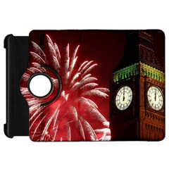Fireworks Explode Behind The Houses Of Parliament And Big Ben On The River Thames During New Year's Kindle Fire Hd 7  by Onesevenart