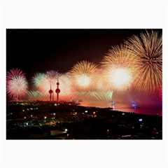 Kuwait Liberation Day National Day Fireworks Large Glasses Cloth by Onesevenart