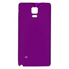 Stripy Purple Galaxy Note 4 Back Case by AnjaniArt