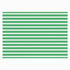 Horizontal Stripes Green Large Glasses Cloth (2 Side) by AnjaniArt