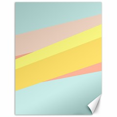 Pink Green Yellow Line Flag Canvas 12  X 16   by AnjaniArt
