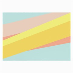 Pink Green Yellow Line Flag Large Glasses Cloth (2 Side) by AnjaniArt
