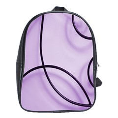 Purple Background With Ornate Metal Criss Crossing Lines School Bags (xl)  by AnjaniArt