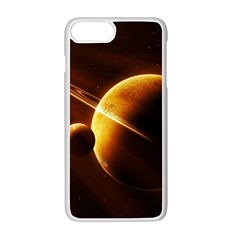 Planets Space Apple Iphone 7 Plus White Seamless Case by Onesevenart