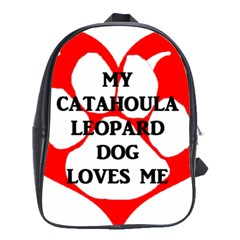 My Catahoula Loves Me School Bags(large)  by TailWags