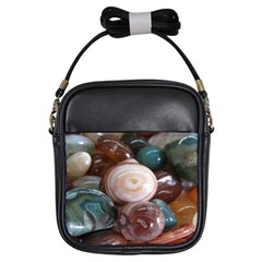 Rain Flower Stones Is A Special Type Of Stone Girls Sling Bags by Onesevenart