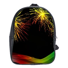 Rainbow Fireworks Celebration Colorful Abstract School Bags (xl)  by Onesevenart