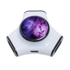 Purple Space 3 Port Usb Hub by Onesevenart